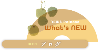 NEWS Release What's NEW/ブログ
